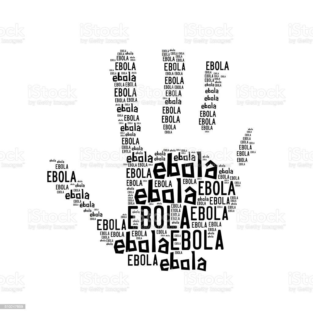 Stop ebola palm royalty-free stock photo