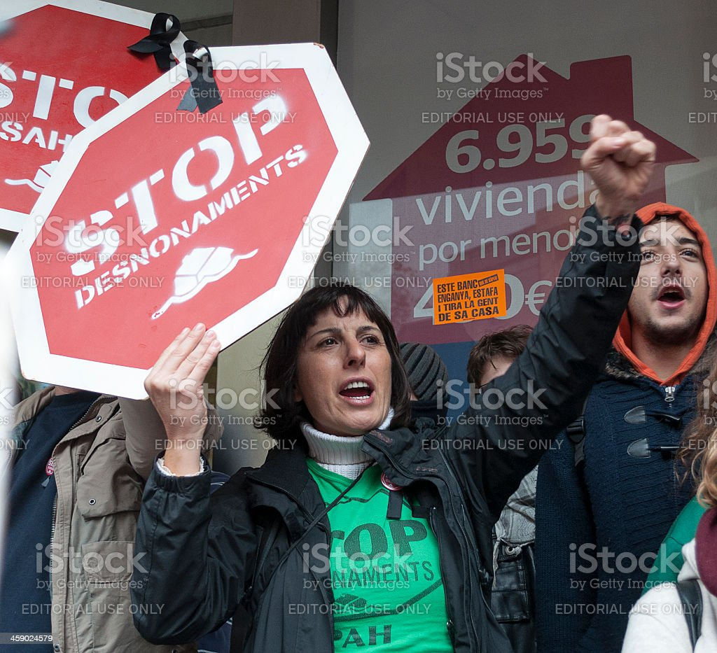 Stop evictions royalty-free stock photo