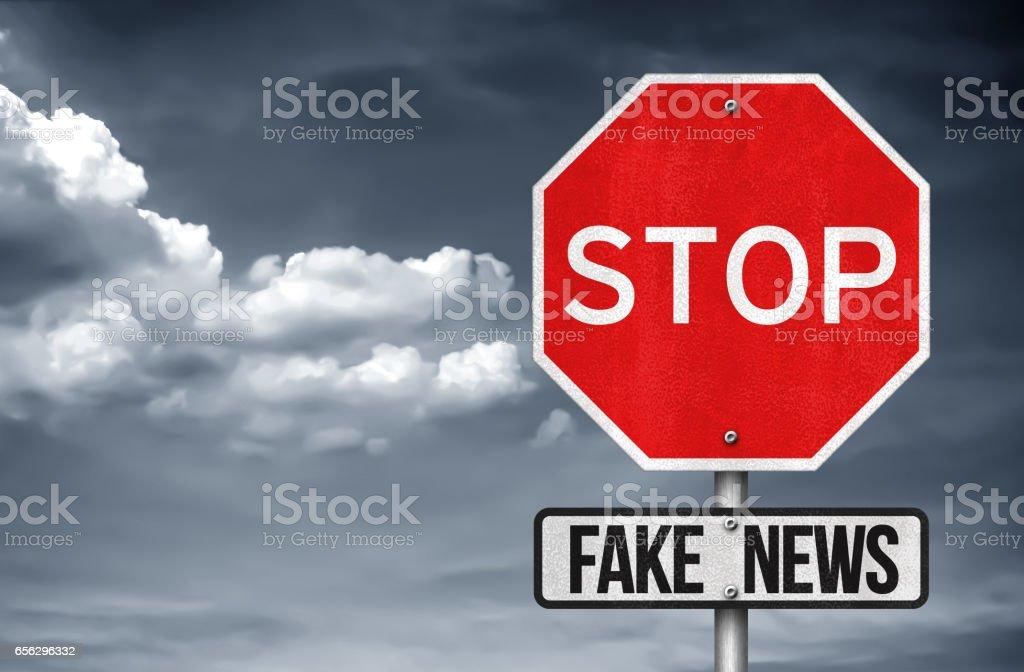 Stop Fake News stock photo