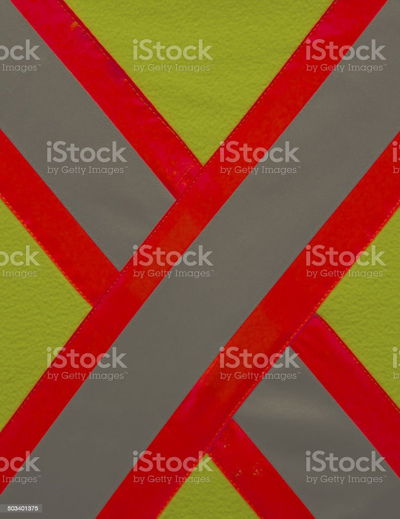 Stop for Safety with reflective vest stock photo