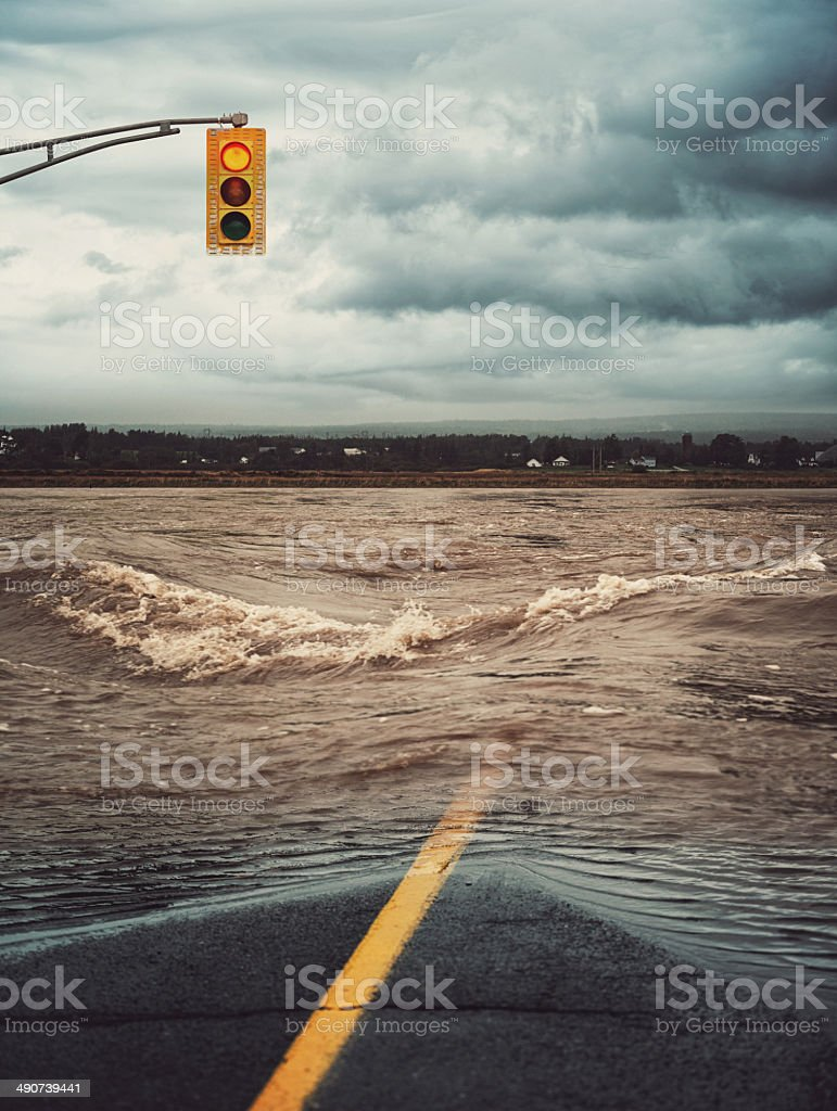 Stop for the Flood stock photo