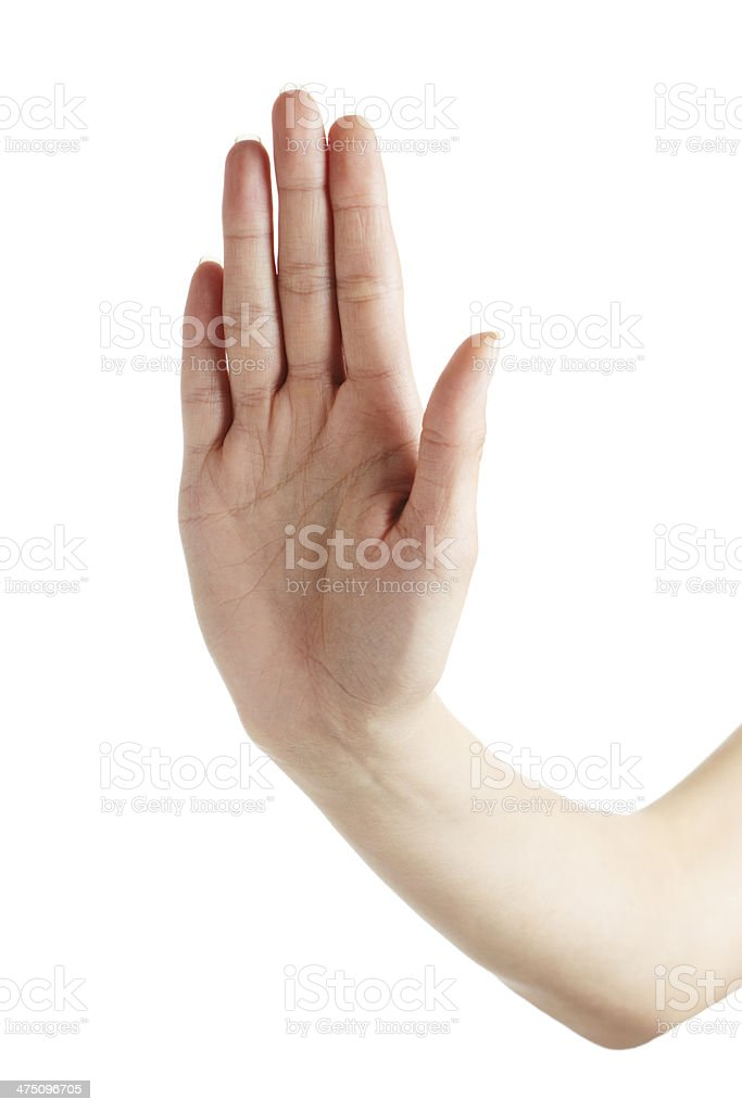 Stop gesture royalty-free stock photo
