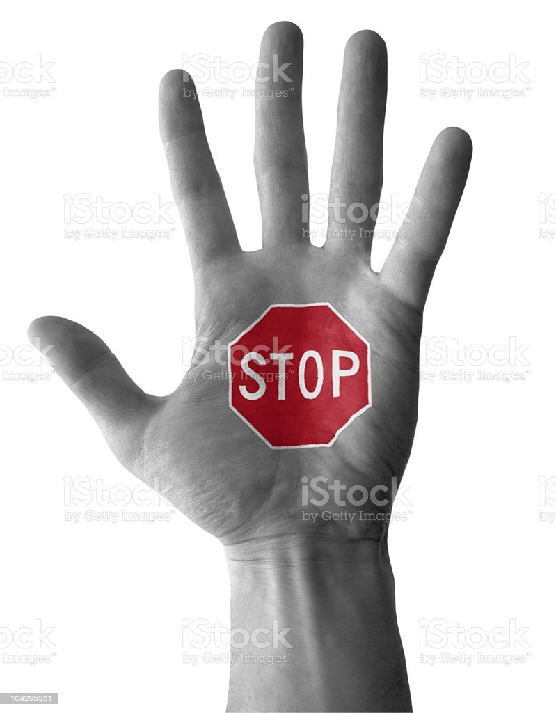 Stop Hand Lizenzfreies stock-foto