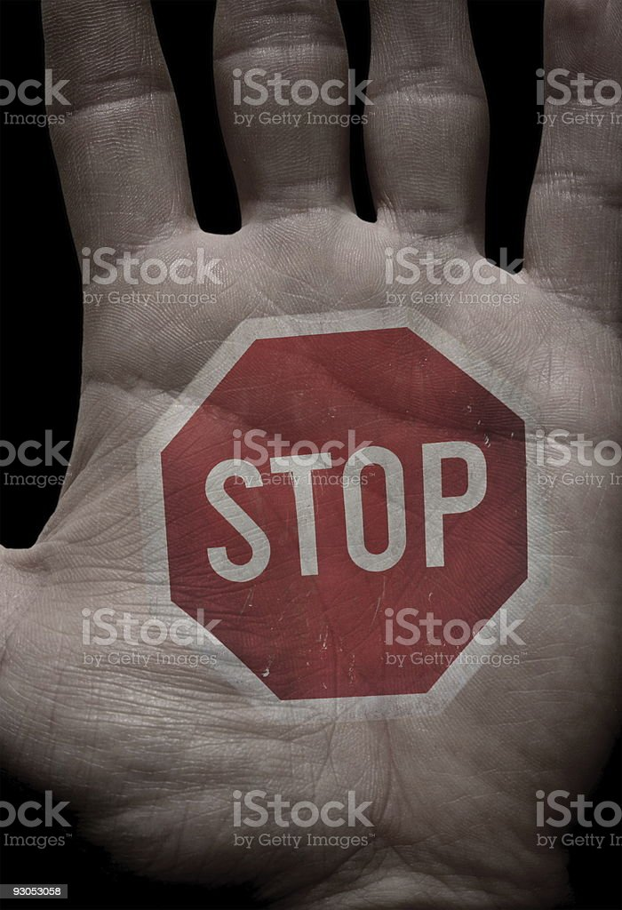 Stop - hand up royalty-free stock photo