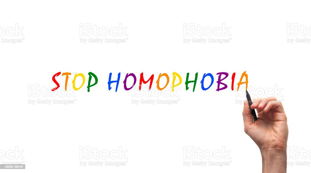Stop Homophobia stock photo