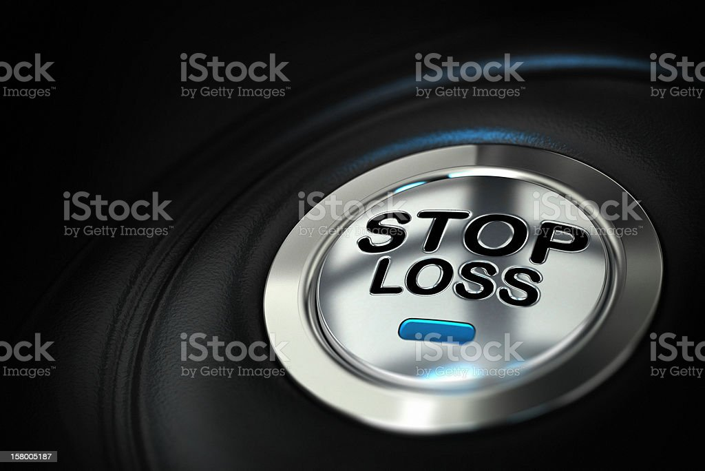 Stop loss button, trading concept of security stock photo