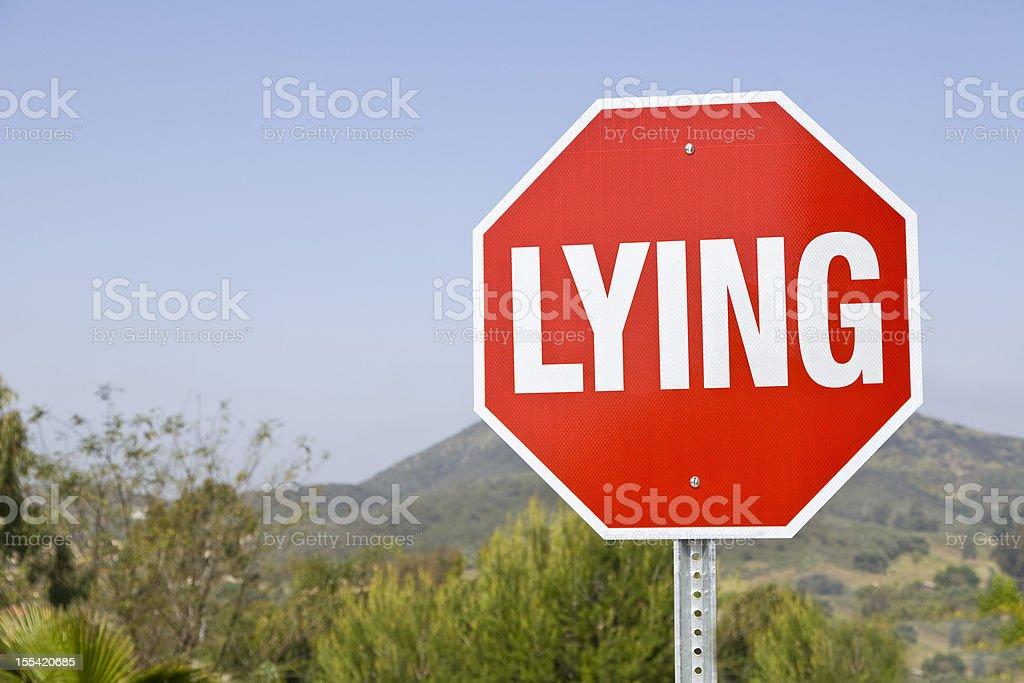 Stop Lying stock photo
