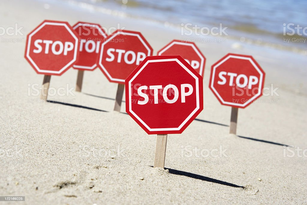 Stop on the Beach royalty-free stock photo