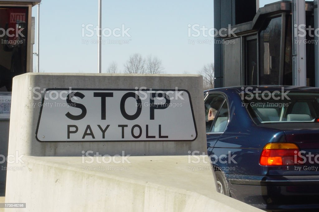 Stop, Pay Toll. royalty-free stock photo