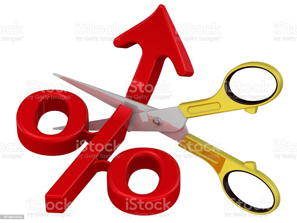 Stop percent growth. Concept stock photo