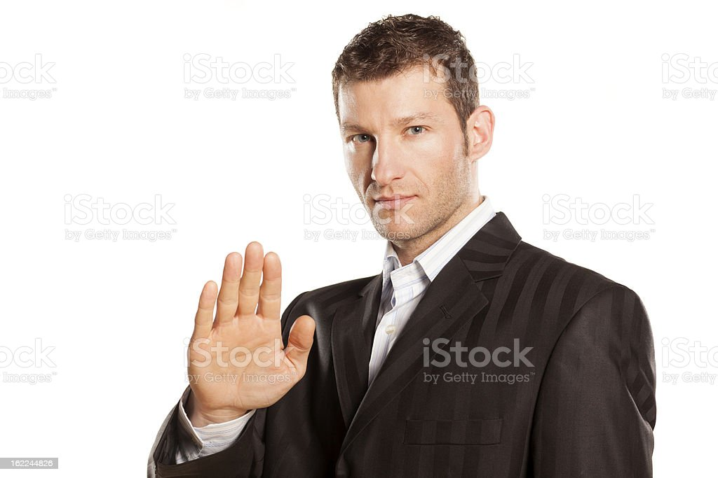 stop placed hand royalty-free stock photo
