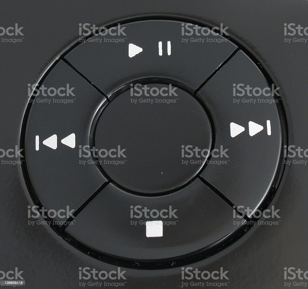 Stop, play and rewind! stock photo
