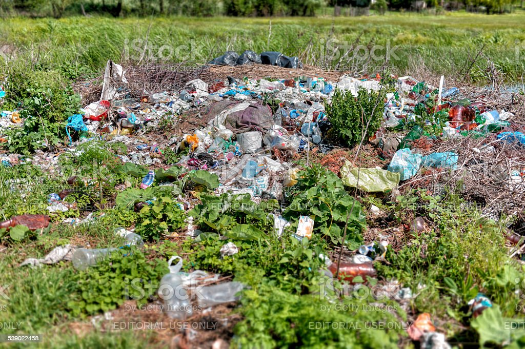 Stop Polluting The Nature With Garbage! stock photo