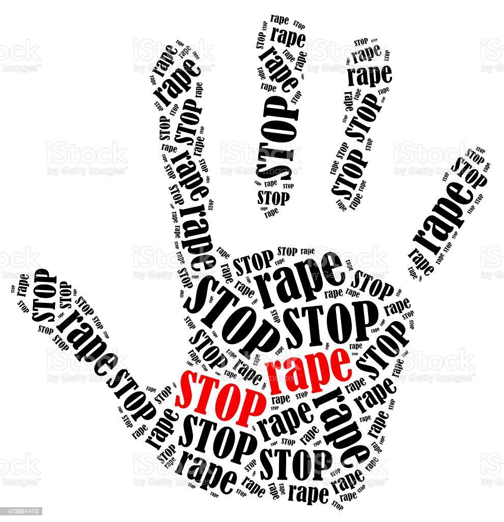 Stop rape. stock photo