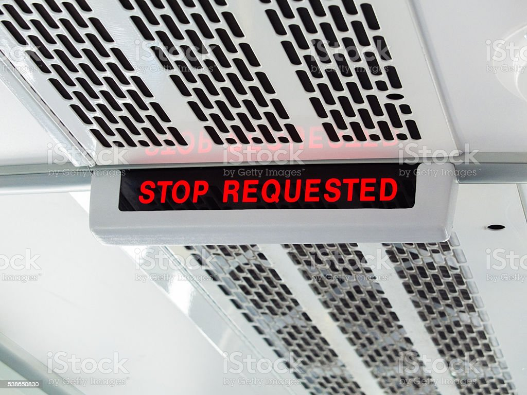 stop requested stock photo