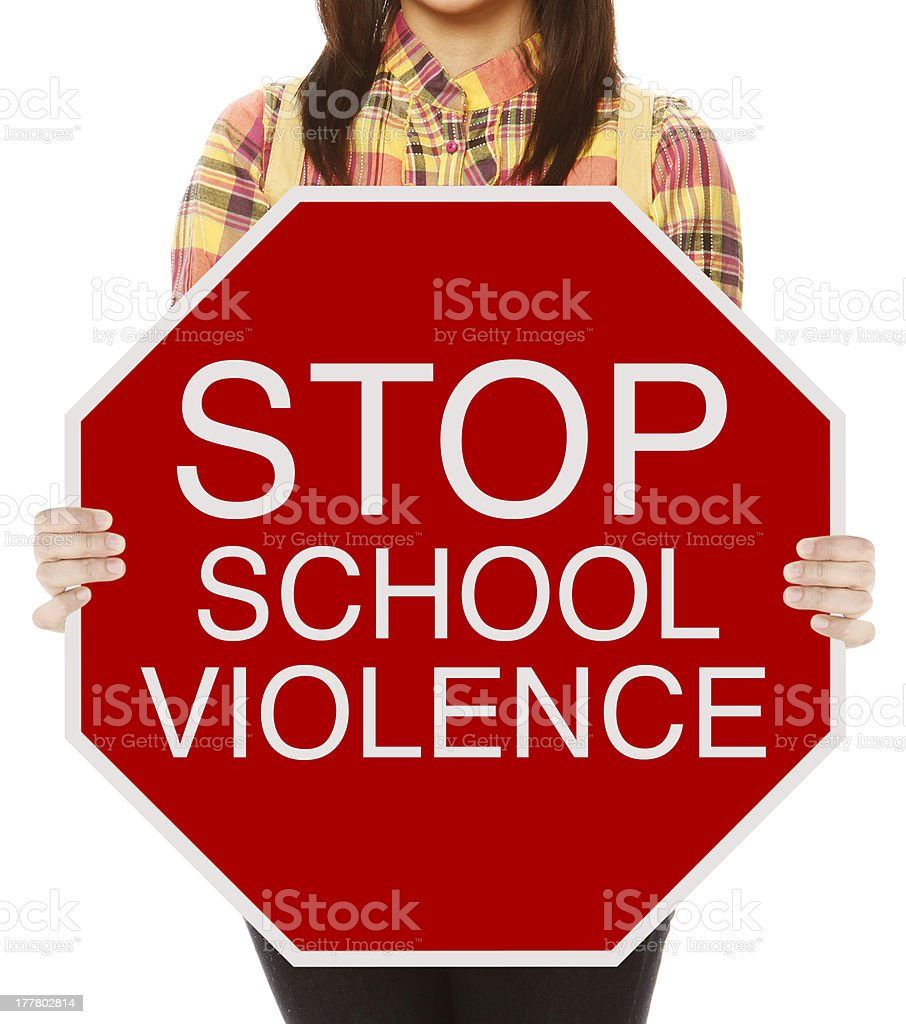 Stop School Violence royalty-free stock photo
