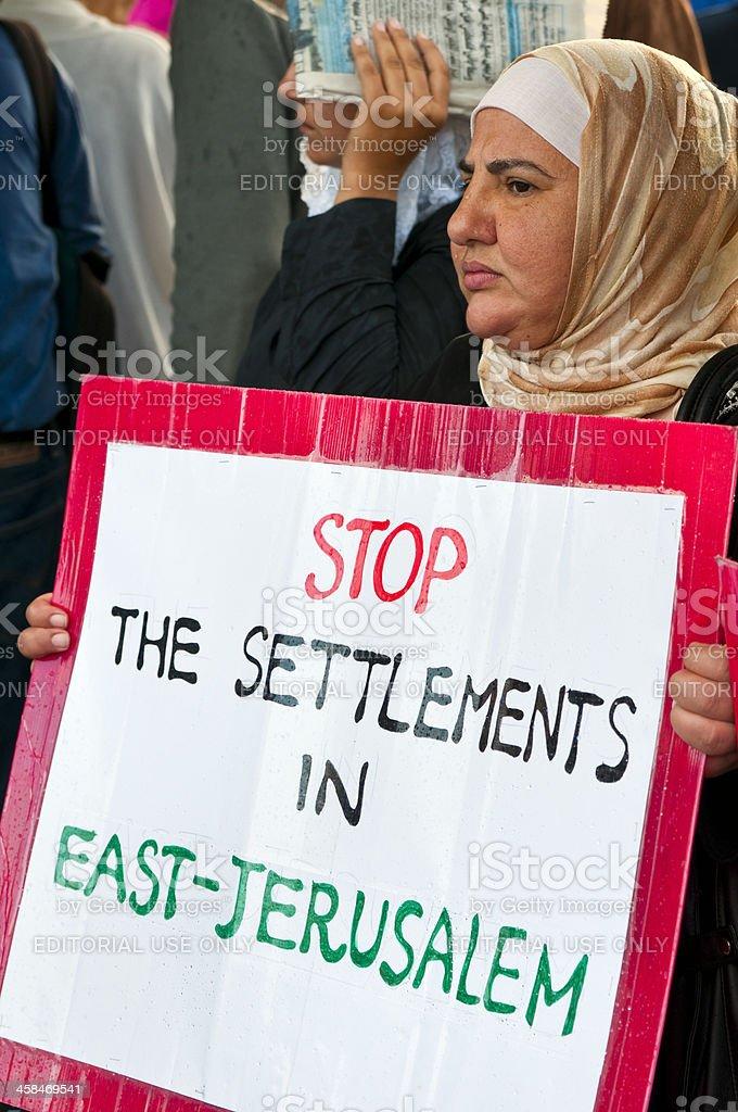 Stop settlements in East Jerusalem royalty-free stock photo