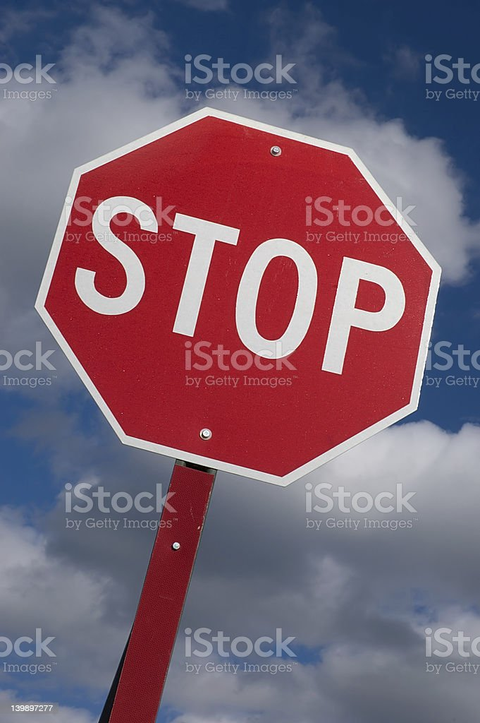 Stop sign against the sky royalty-free stock photo