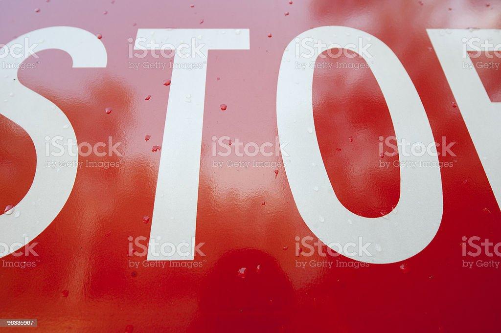 Stop Sign Close Up stock photo