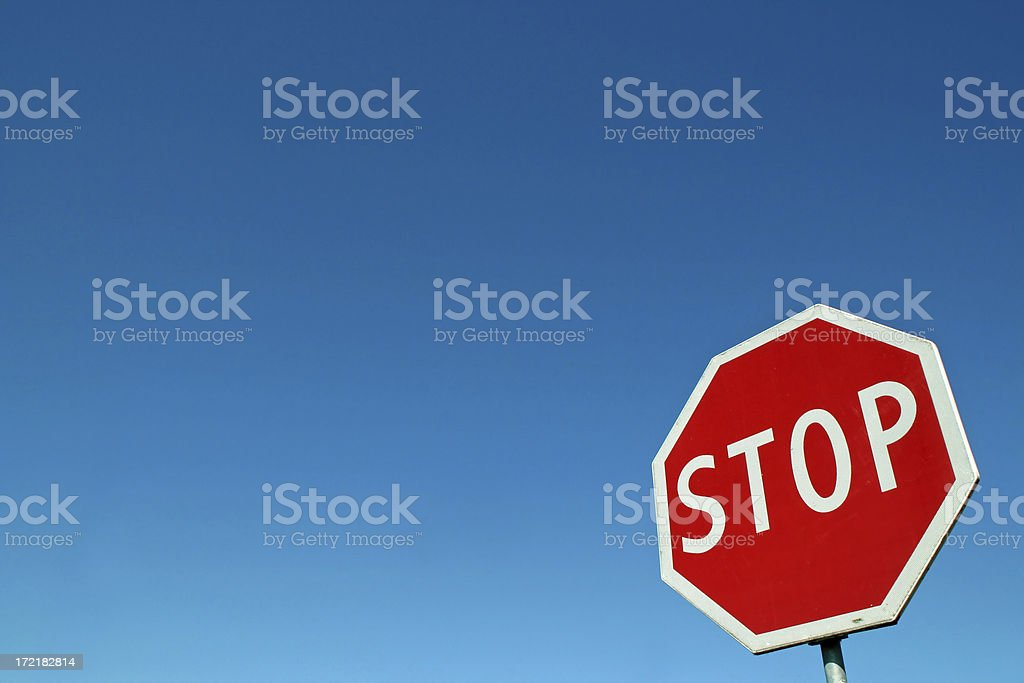 Stop sign # 1 royalty-free stock photo
