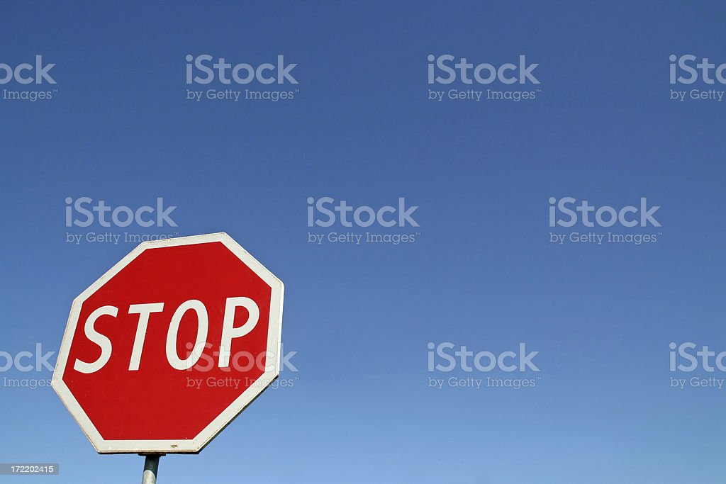 Stop sign # 2 royalty-free stock photo
