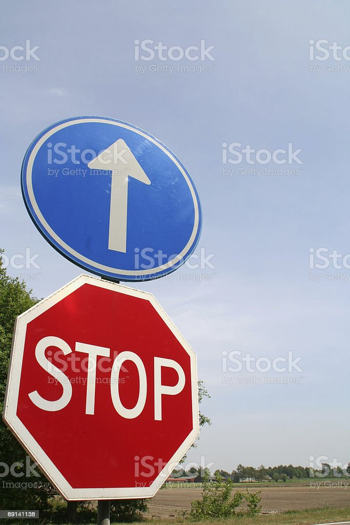 Stop sign # 4 royalty-free stock photo