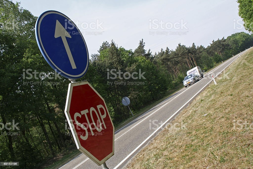 Stop sign # 6 royalty-free stock photo