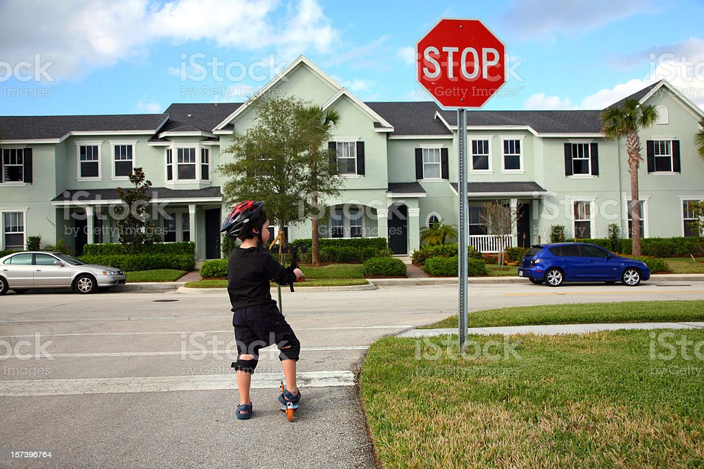 Stop Sign Safety stock photo