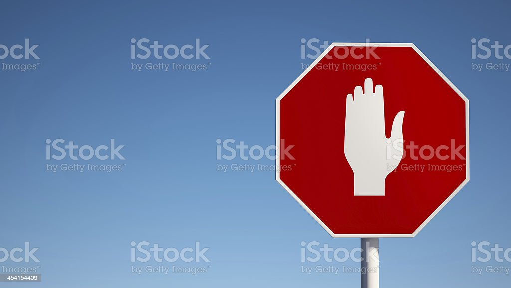 Stop Sign with Clipping Path royalty-free stock photo