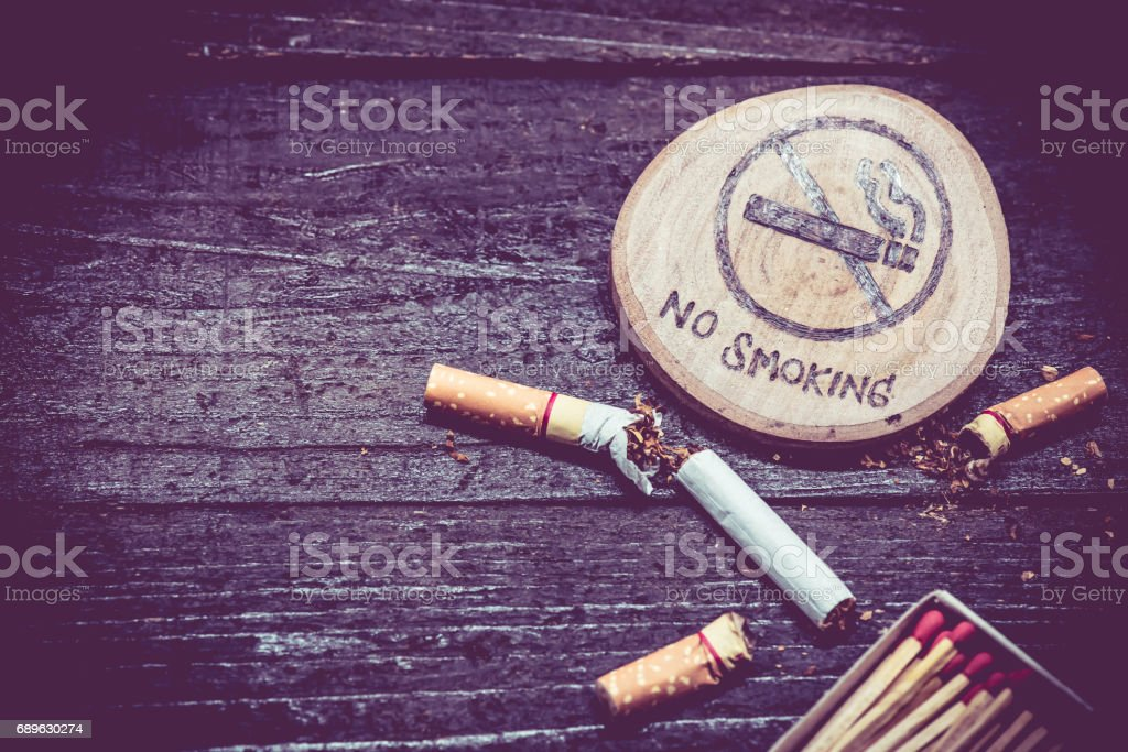 Stop smoking and World No Tobacco Day stock photo