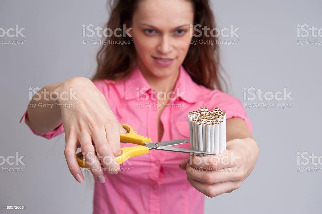 Stop smoking concept. stock photo