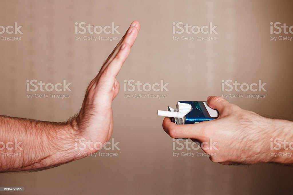 Stop smoking concept. stock photo