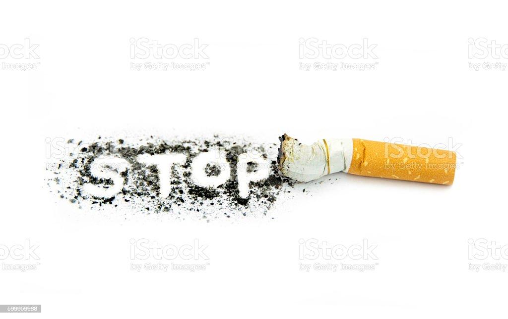 Stop smoking conceptual image stock photo
