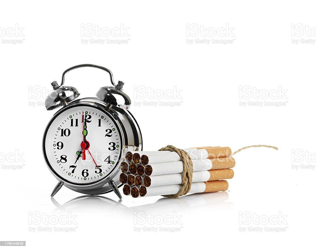 stop smoking.  isolated on white background royalty-free stock photo