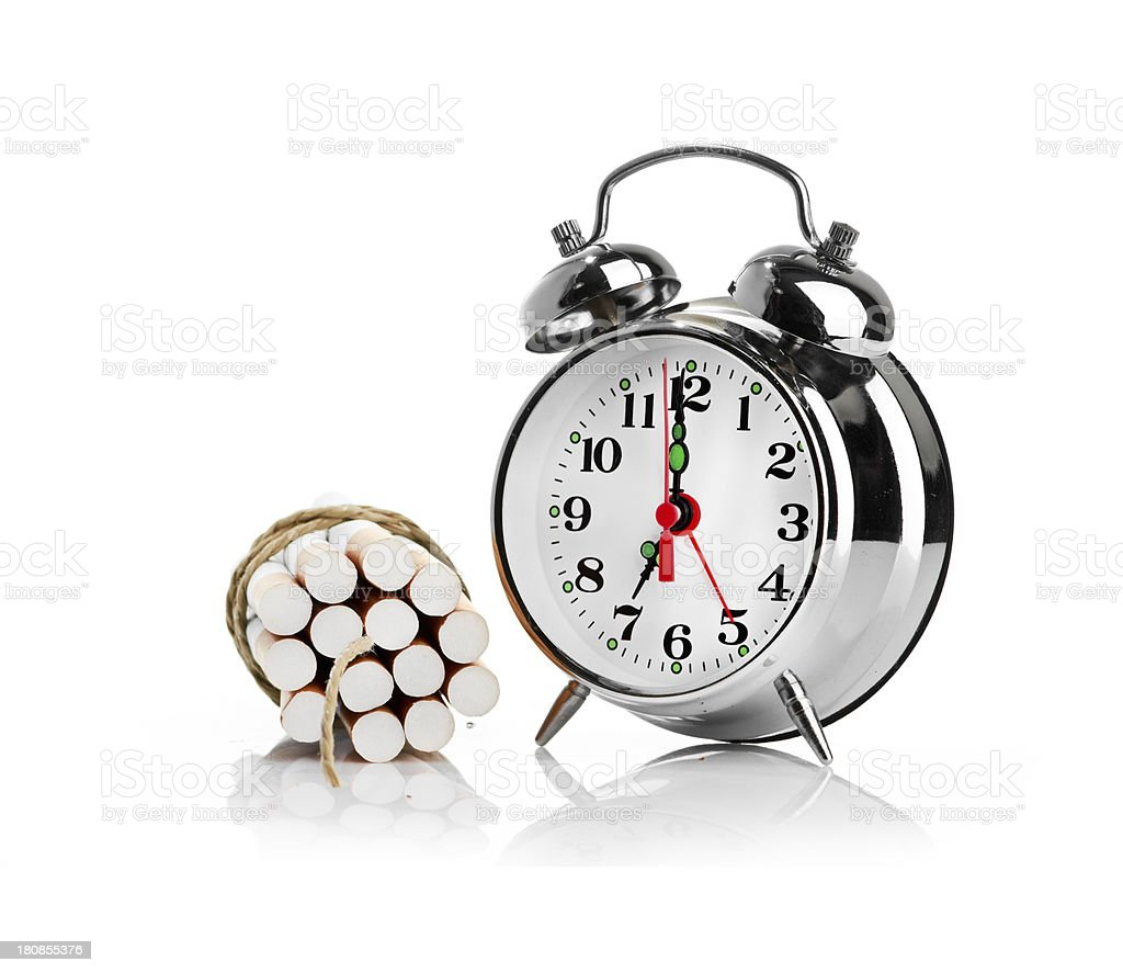 stop smoking.  isolated on white background royalty-free stock photo