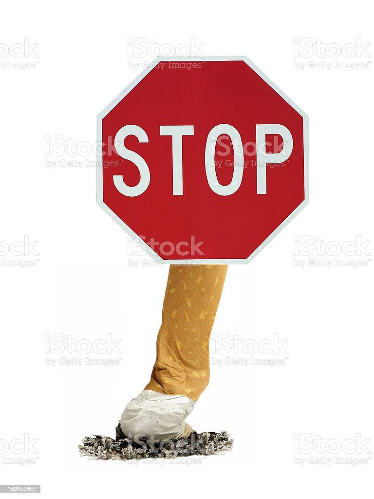 stop smoking sign royalty-free stock photo