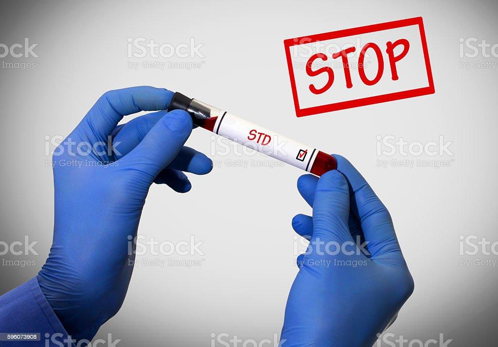 Stop STD (venereal disease) stock photo