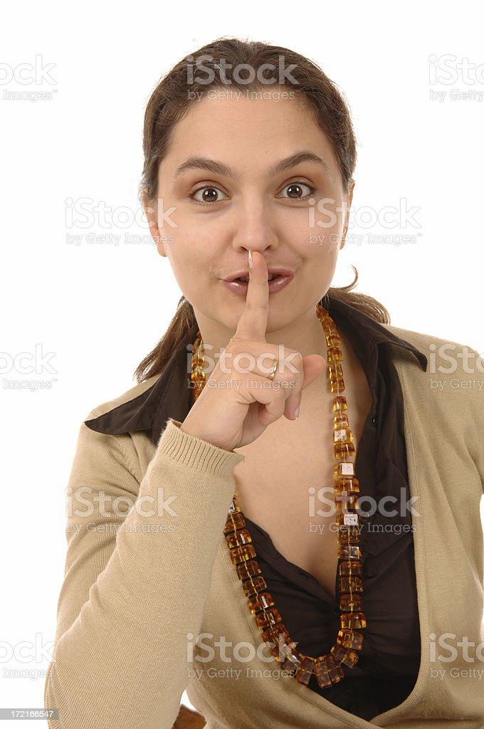 stop talking! stock photo