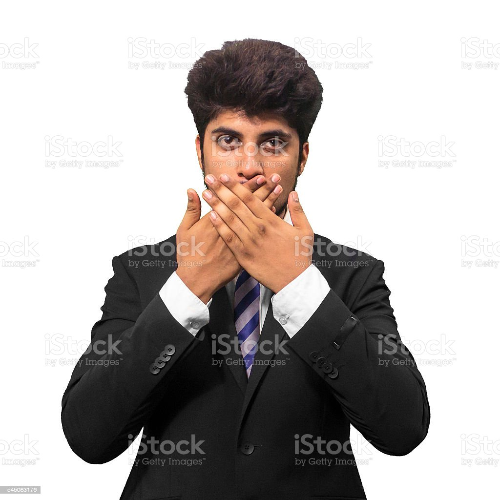 Stop Talking stock photo