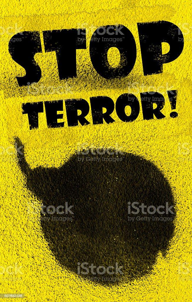 Stop terror! stock photo