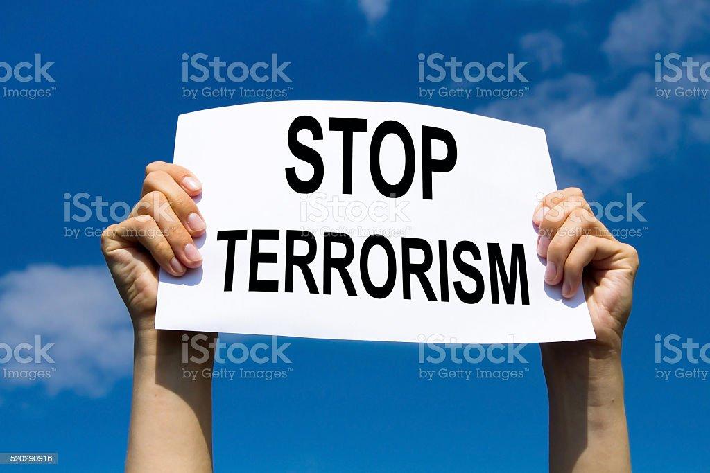 stop terrorism stock photo
