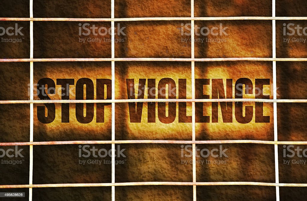 Stop the violence stock photo