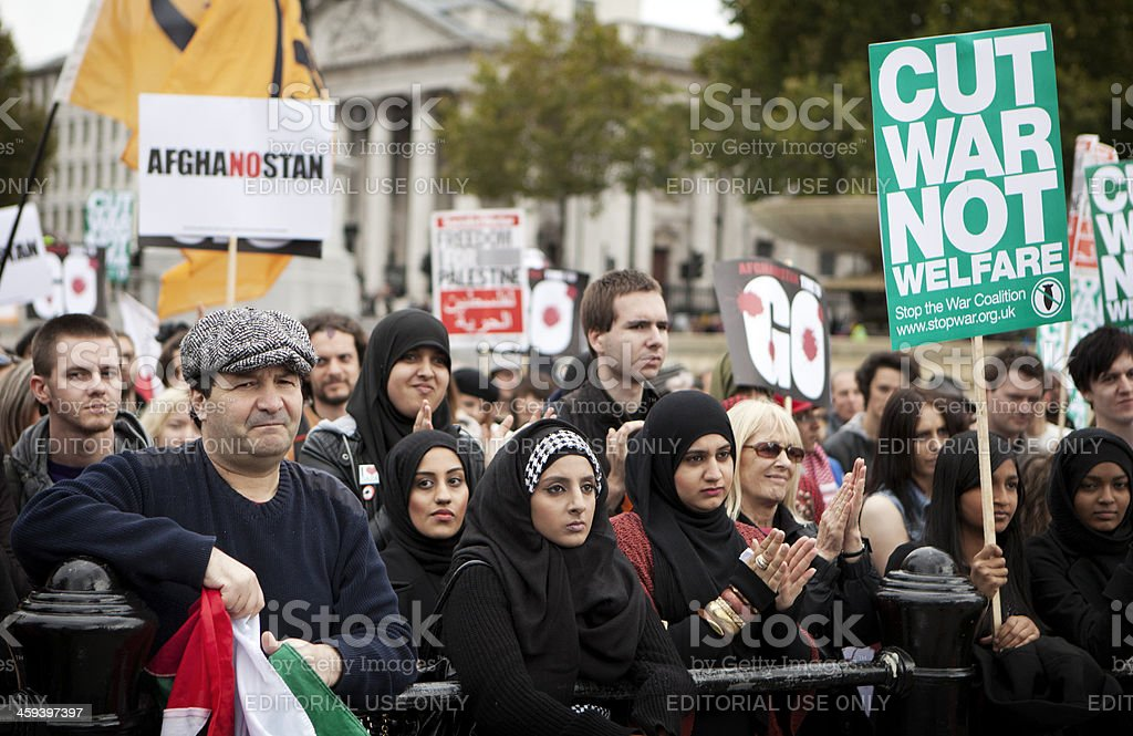 Stop the War demonstration, London. royalty-free stock photo