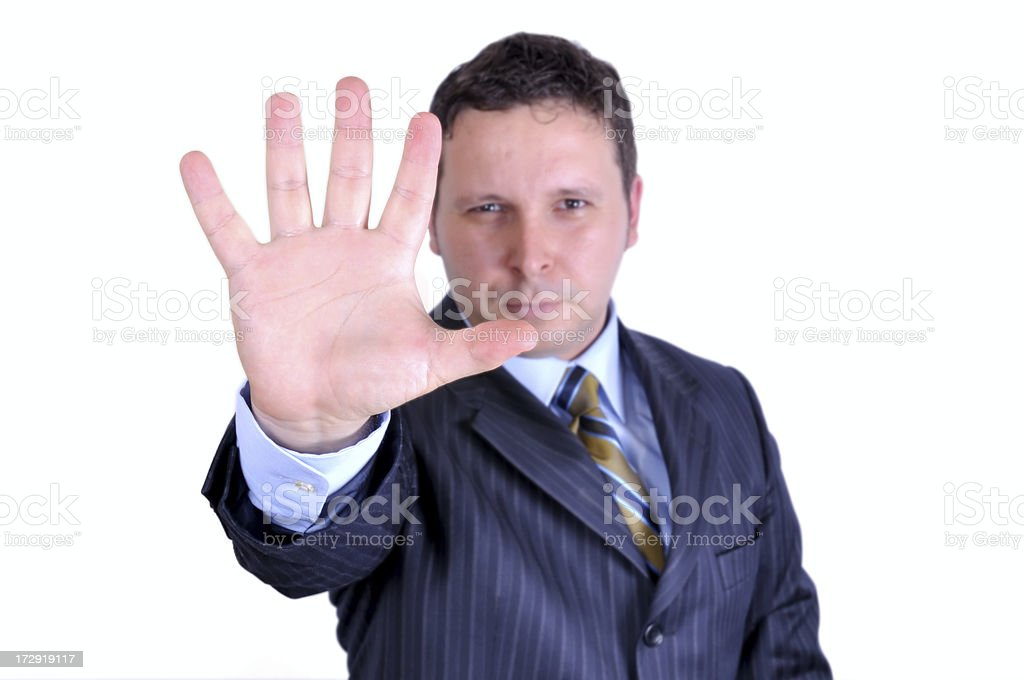 stop the works royalty-free stock photo