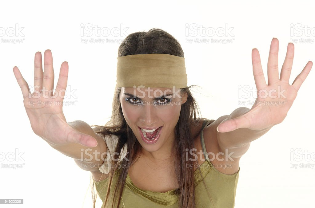 Stop there! stock photo