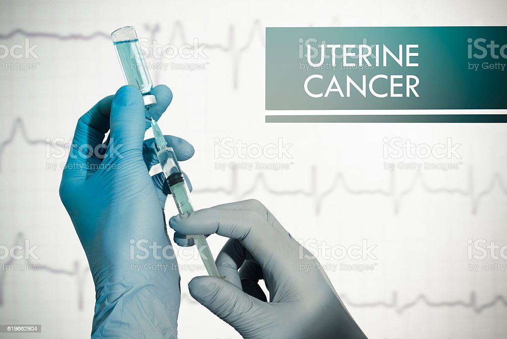 Stop uterine cancer stock photo