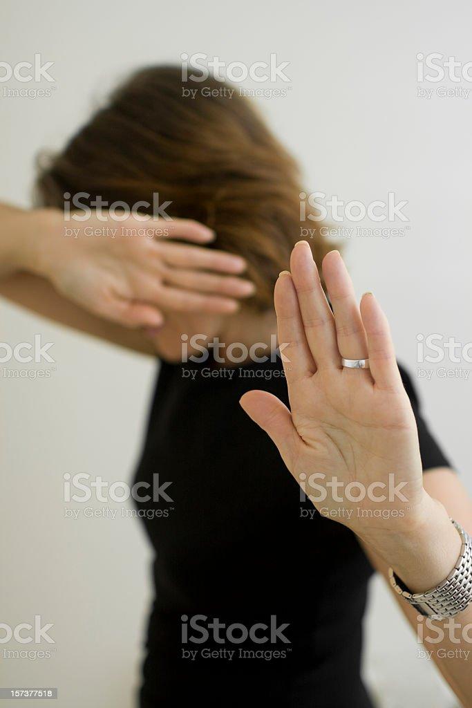Stop violence stock photo