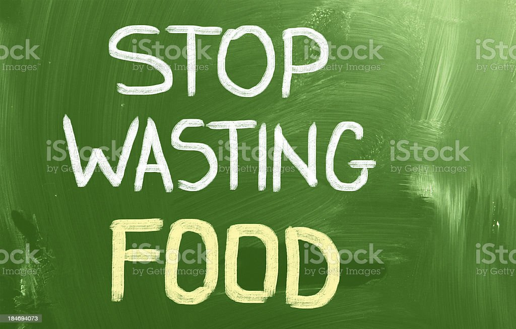 Stop Wasting Food Concept stock photo