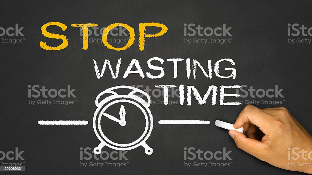 stop wasting time stock photo