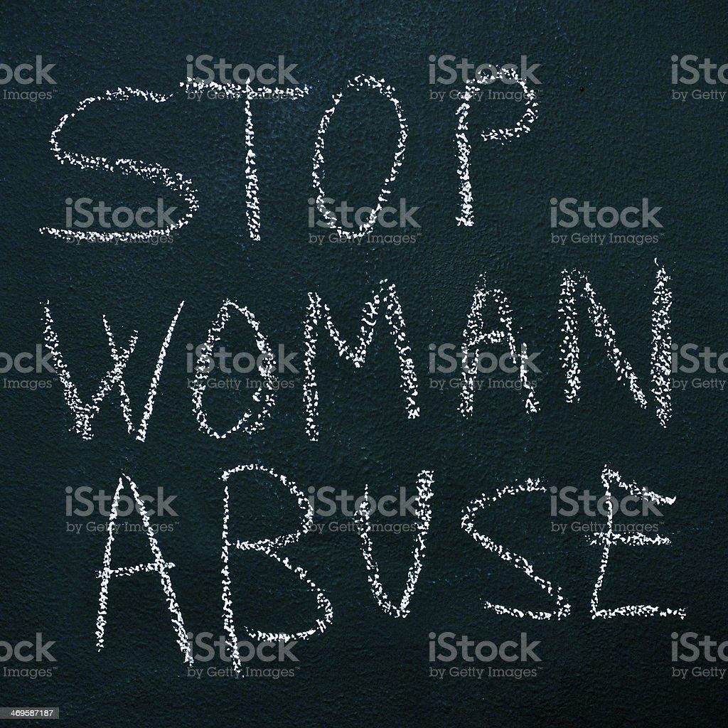 stop woman abuse stock photo